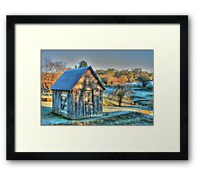 The Little House & the Frost .. HDR Framed Print