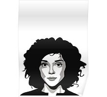 St Vincent Annie Clark (vector illustration) Poster