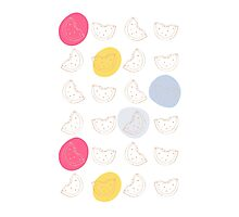Cute pattern with watermelon   Photographic Print