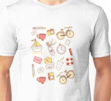 Cartoon traveling elements Unisex T-Shirt