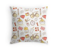 Cartoon traveling elements Throw Pillow