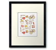 Cartoon traveling elements Framed Print