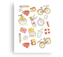 Cartoon traveling elements Metal Print
