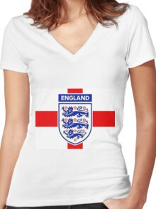 England 2 Women's Fitted V-Neck T-Shirt