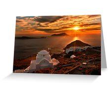 Panagia Thalassitra Sunset Greeting Card