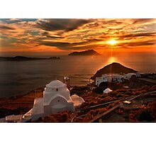 Panagia Thalassitra Sunset Photographic Print