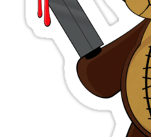Psycho Teddy Sticker