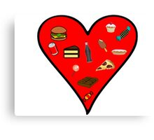 Cool Fast Food Hungry Fat Funny I Love Food Gift Canvas Print
