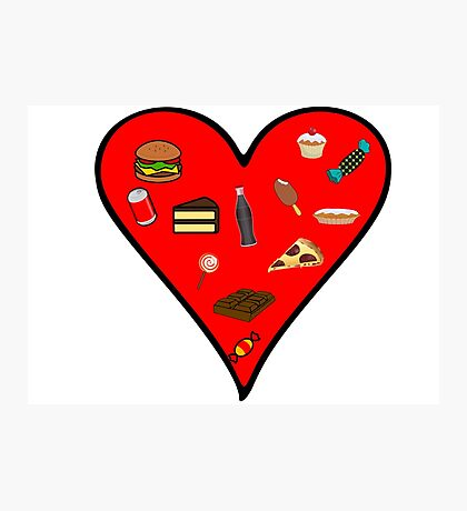Cool Fast Food Hungry Fat Funny I Love Food Gift Photographic Print