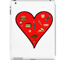 Cool Fast Food Hungry Fat Funny I Love Food Gift iPad Case/Skin