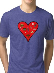 Heart filled with Food Tri-blend T-Shirt