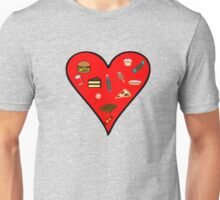 Cool Fast Food Hungry Fat Funny I Love Food Gift Unisex T-Shirt