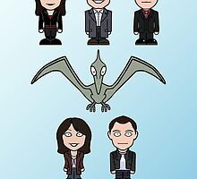 Torchwood team (print or card) by redscharlach
