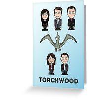Torchwood team (print or card) Greeting Card