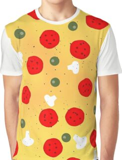 Cool and fun vector pizza Graphic T-Shirt