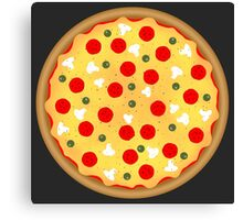 Cool and fun vector pizza Canvas Print