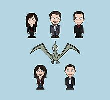 Torchwood team (pillow or tote) by redscharlach