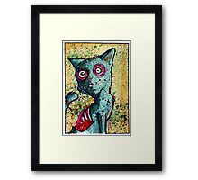 Petey the Zombie Cat Framed Print