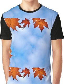 Backlit Maple Leaves in the Cloudy Sky Graphic T-Shirt