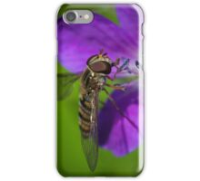 Summer skies mean hoverflies iPhone Case/Skin