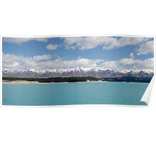 Glacial waters of Lake Pukaki Poster