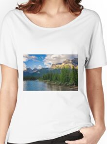 Bow River and Three Sisters Canmore Women's Relaxed Fit T-Shirt