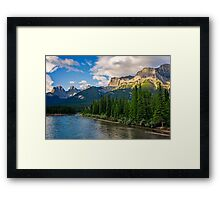 Bow River and Three Sisters Canmore Framed Print