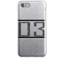 back number iPhone Case/Skin