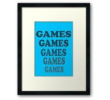 Adventureland - Games Games Games Games Games Framed Print