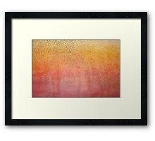 Starling Sunset Acrylic Painting Framed Print
