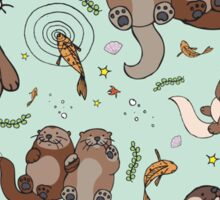 Sea Otters Sticker