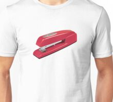 Swingline Red Stapler Pattern Unisex T-Shirt