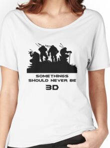 Somethings Should Never Be 3D Women's Relaxed Fit T-Shirt