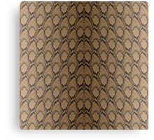 Bronze Brown and Black Python Snake Skin Reptile Scales Canvas Print
