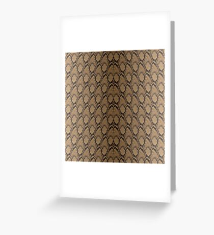 Bronze Brown and Black Python Snake Skin Reptile Scales Greeting Card