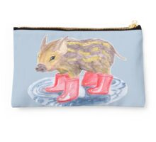 A little striped piglet Studio Pouch