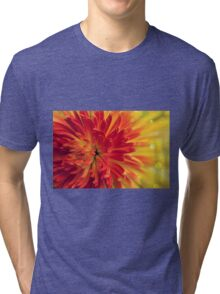 orange-red flower Tri-blend T-Shirt