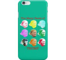 The Many Faces of Trump iPhone Case/Skin