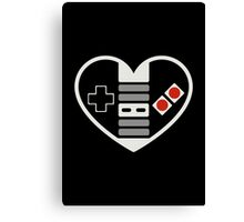 NES Controller Heart Canvas Print