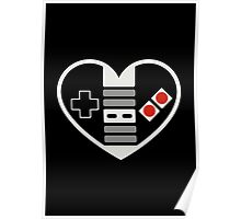 NES Controller Heart Poster