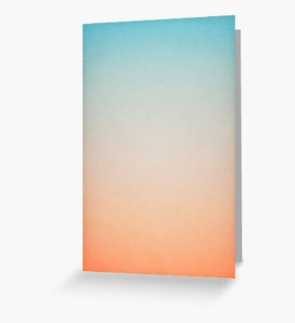abstract blue and orange painting Greeting Card