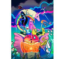 Ancient Psychic Tandem War Elephant  · Adventure Time  Photographic Print