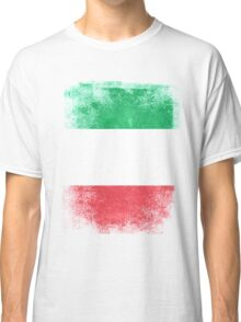 Italy Flag Proud Italian Vintage Distressed  Classic T-Shirt