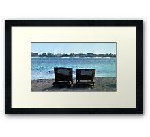 Relaxation At Its Best Framed Print