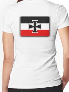 GERMANY, German, Flag of, North German, Confederation, 1867–1871, Marine Jack, Kriegsschiffgösch Women's Fitted V-Neck T-Shirt