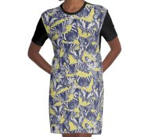 butterfly yellow Graphic T-Shirt Dress