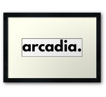 arcadia (plain) Framed Print