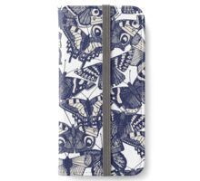 butterfly white iPhone Wallet/Case/Skin