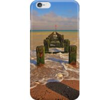Groyne at the North Beach Bridlington iPhone Case/Skin