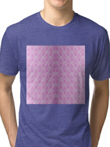 Pink and White Python Snake Skin Reptile Scales Tri-blend T-Shirt